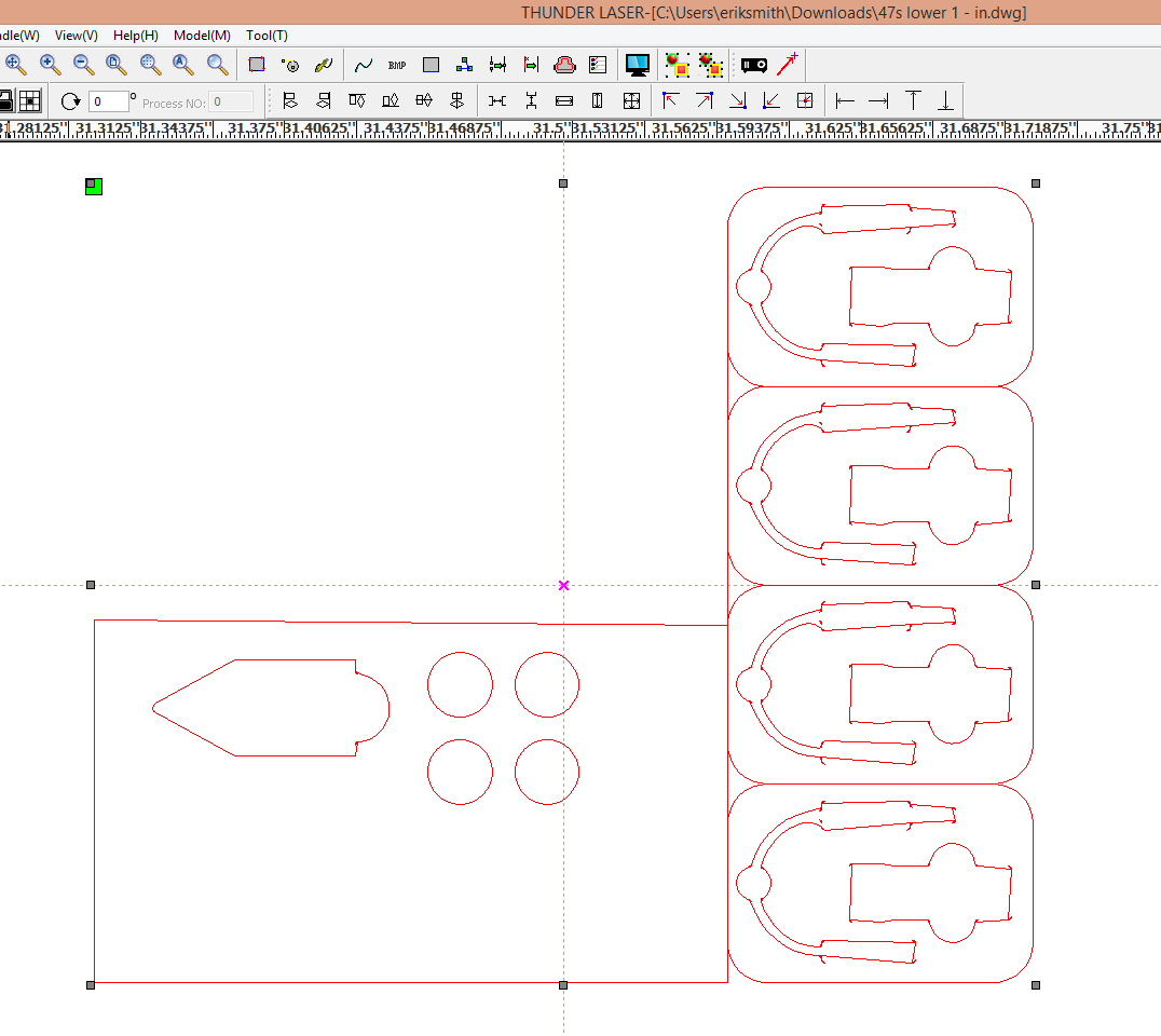 RD works not showing dxf files correctly - Laser - Dallas Makerspace